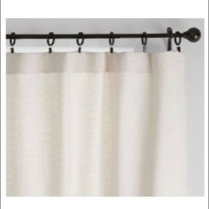 Pottery Barn 100% cotton ivory drape